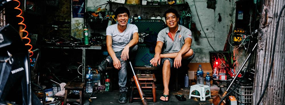 Hanoi, Vietnam - Motorcycle Mechanic