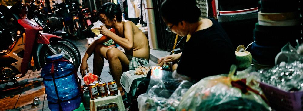 Hanoi, Vietnam - Drinking after work
