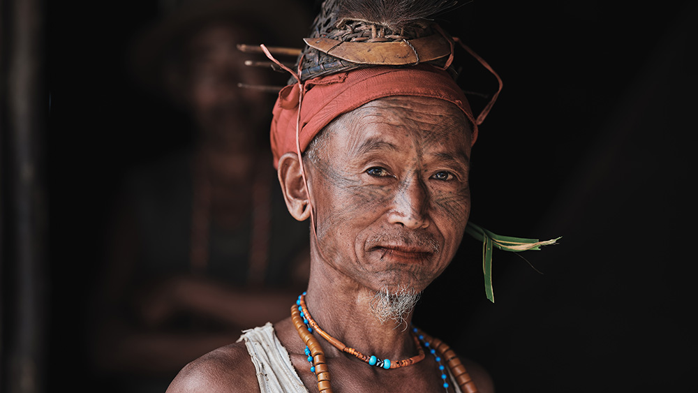 A portrait of a Wancho man