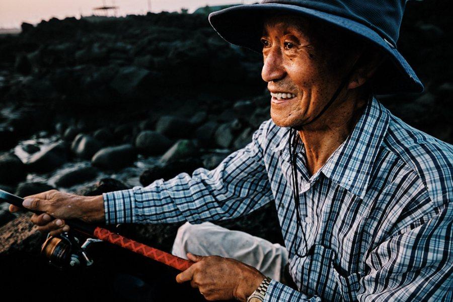 Jeju Island Rock Fishing Portrait Fujifilm XF 8-16mm