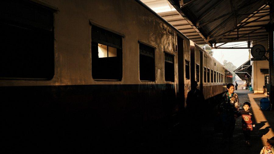 Yangon Circular Line - Yangon Station Morning Light