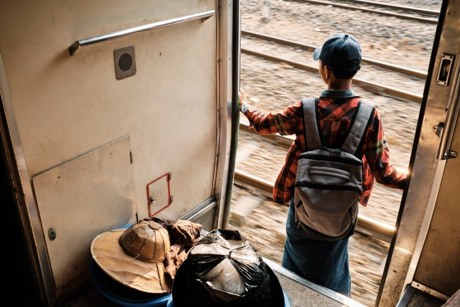 Yangon Circular Train Doorway