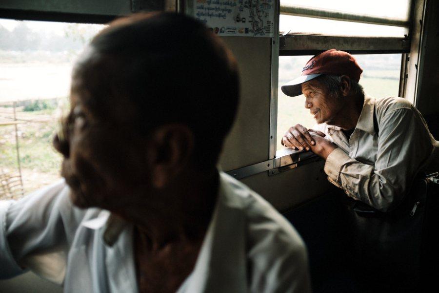 Yangon Circular Train Looking out Window