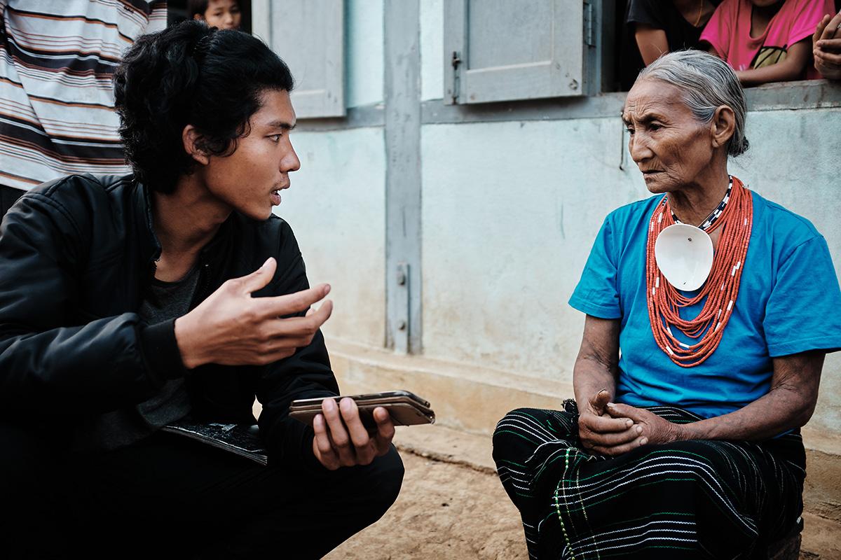 Interviewing a Makuri Naga Woman