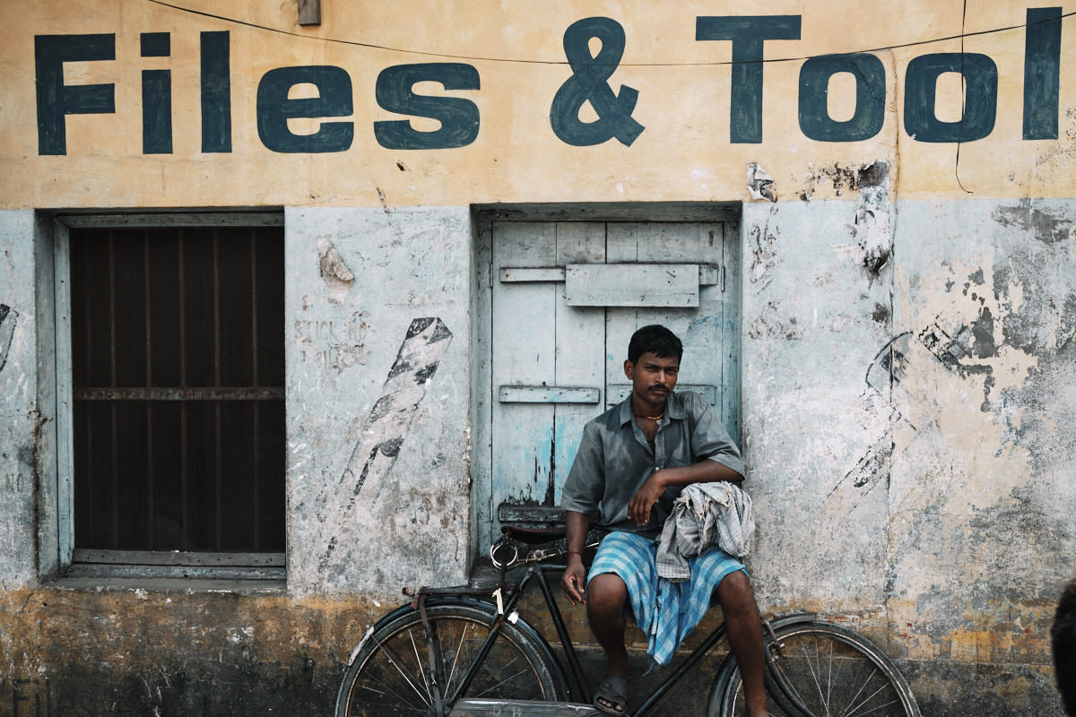 Relaxing in the Shade - Street Portrait in Guwahati