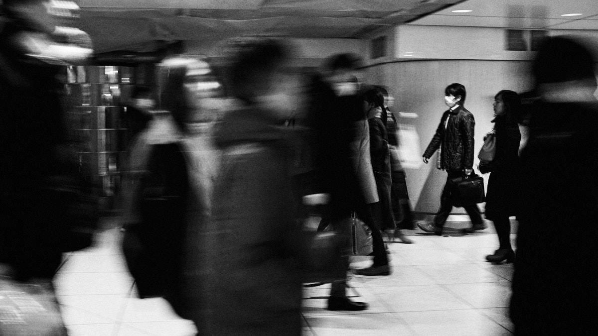 Business Man - Tokyo Trains