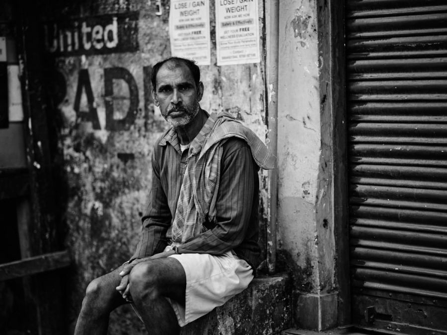 Man in Street, Dibrugarh