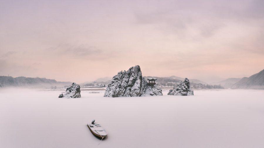Dodamsambong Snowy Sunrise