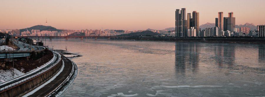 Seoul Tower Sunrise - Frozen Han River