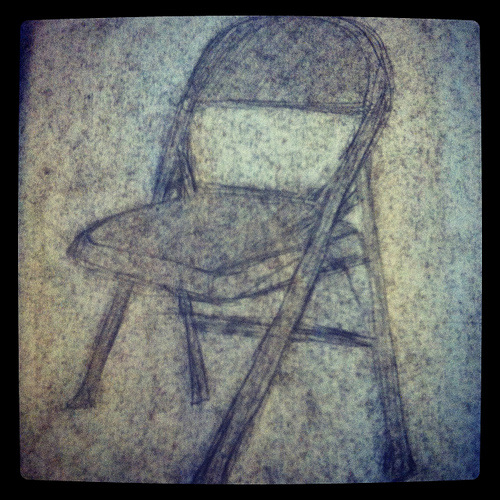 Right Side Drawing: Chair Exercise