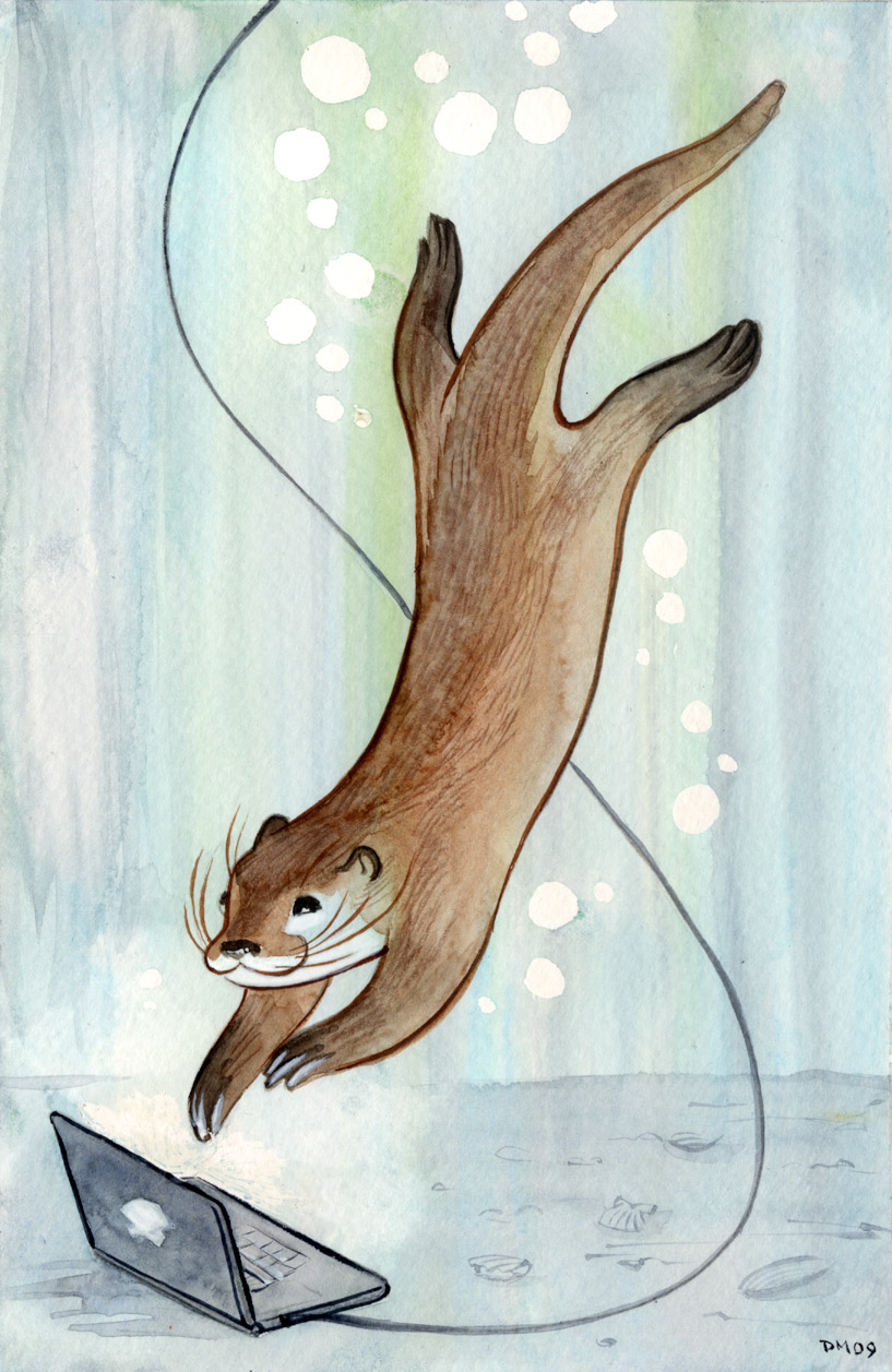 hight resolution of connected otter