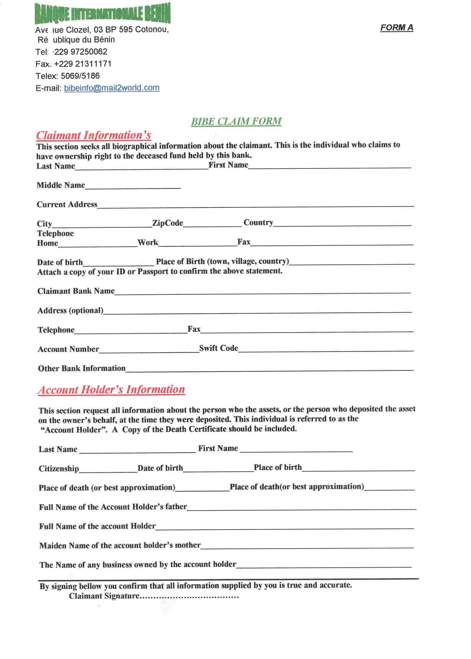 Form Release Of Claims | Sample Of Application Letter For