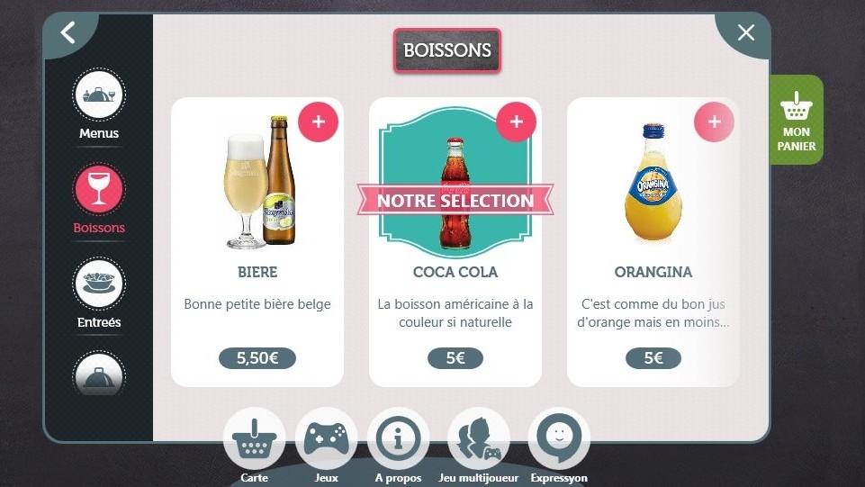 Table tactile DNo pour restaurant  DYMENSION