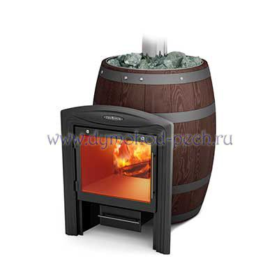 Печь для бани Баррель Inox Витра