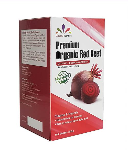 Organic red beet crystals