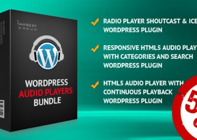 HTML5 Audio Players WordPress Plugins Paquete Todo en Uno