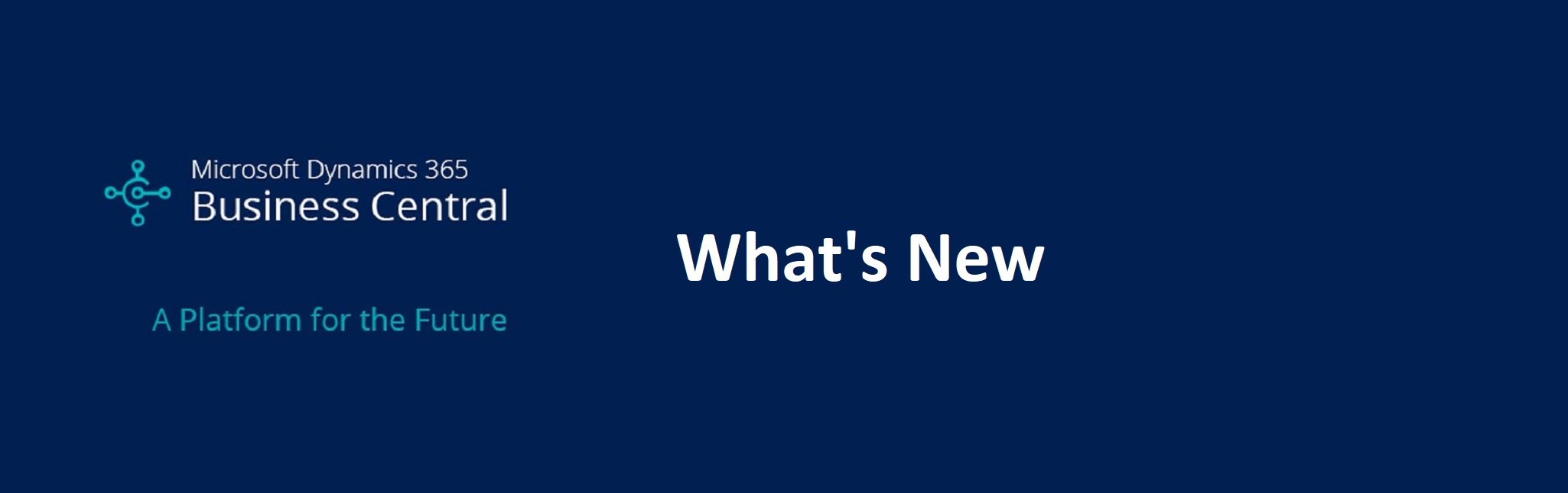 What's New – Dynamics 365 Business Central October Release