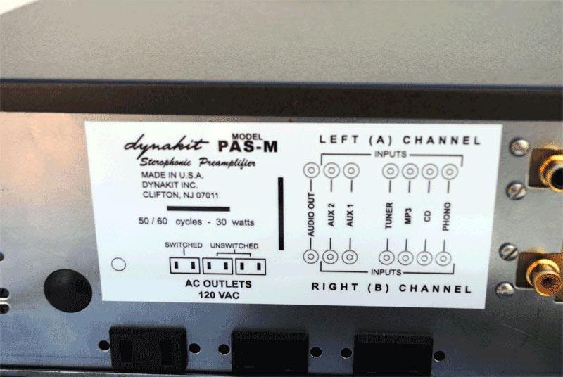 PAS Rear Label