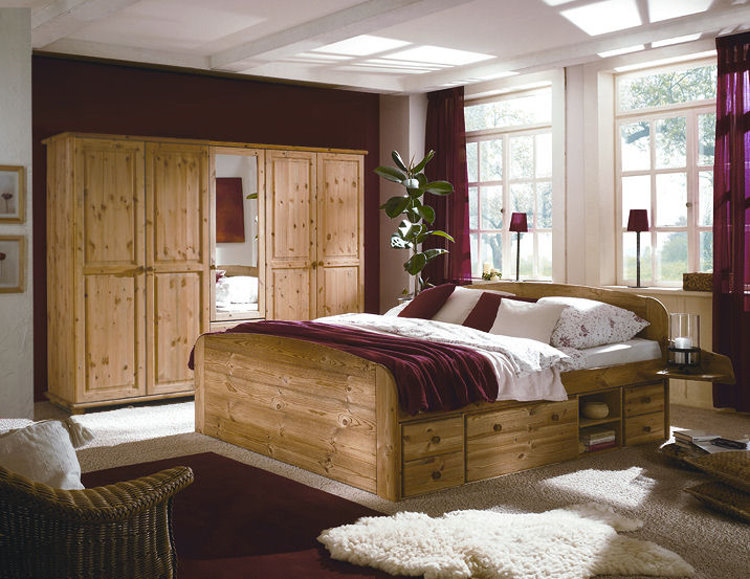 Landhausstil schlafzimmer kiefer  Kiefer Schlafzimmer Kiefer,schlafzimmer,betten,kleiderschränke ...