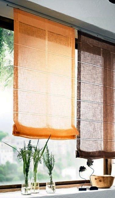 Raffrollo Fenster Falt Rollo Plissee Fertideko Gardine Vorhang Fertiggardine  eBay