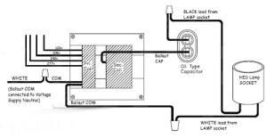 mercury vapor ballast wiring diagram