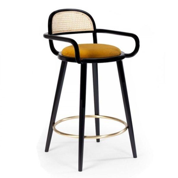 luc barstool, cane furniture, hotel furniture, restaurant furniture