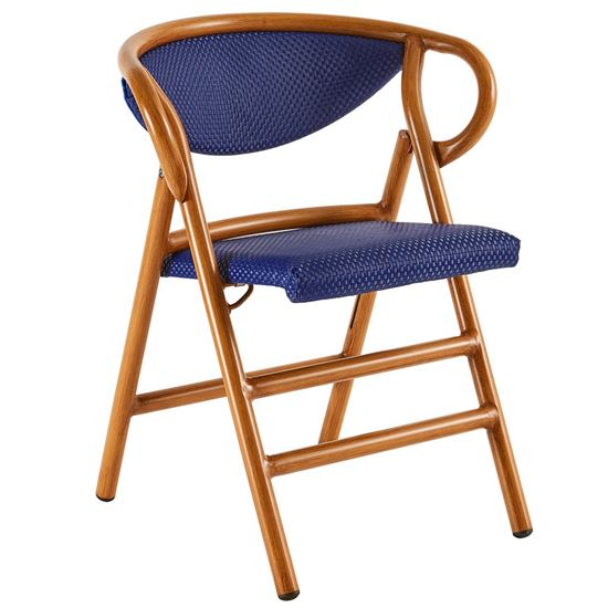folding outdoor armchair, outdoor furniture, restaurant furniture, hotel furniture