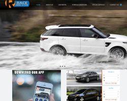 race rent a car website