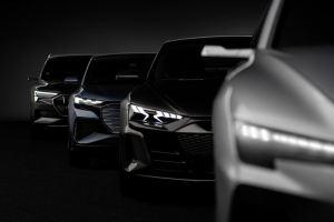 Audin täyssähköautojen neljä alustarakennetta