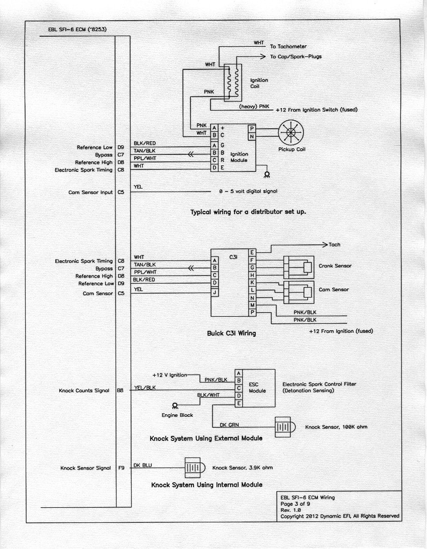 EBL SFI-6 Wiring Diagrams
