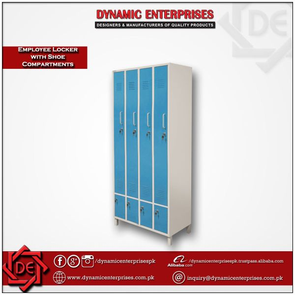 4 Compartment Employee Lockers with Shoe