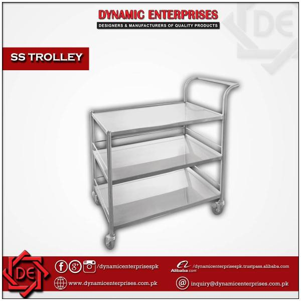 3 Shelves SS Trolley