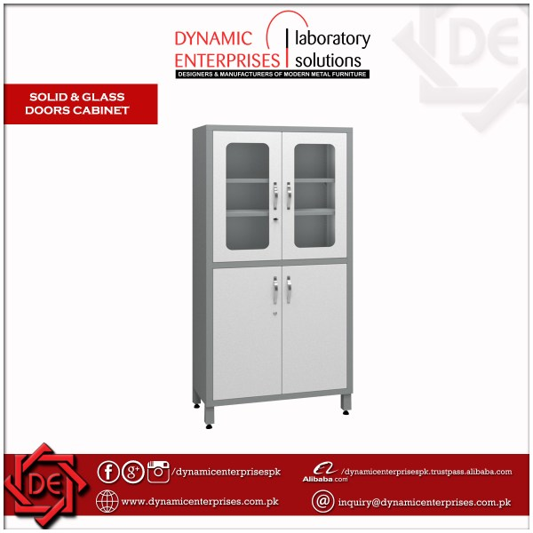 Solid & Glass Doors Cabinet