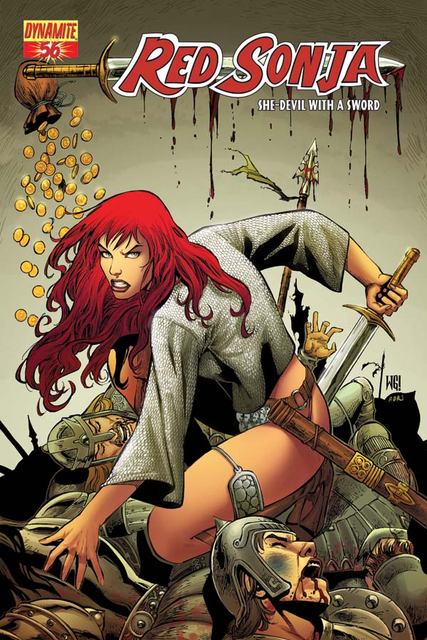 Girl In Blood Wallpaper Dynamic Forces 174 Red Sonja 56