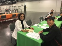 Health screening at Anaheim health fair- 2017