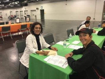 Health screening at Anaheim health fair- 2017