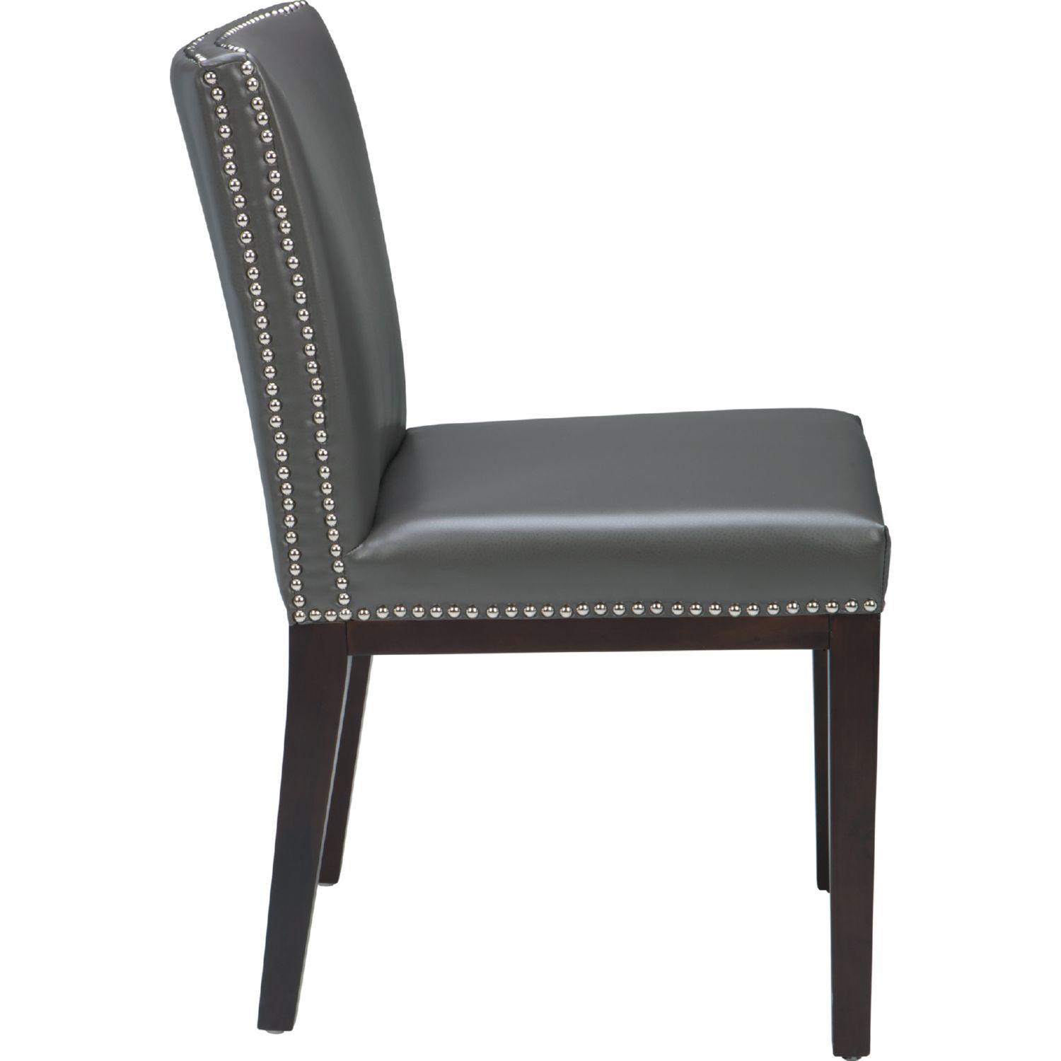 gray leather dining chairs family dollar sunpan 55878 vintage chair in grey set of 2