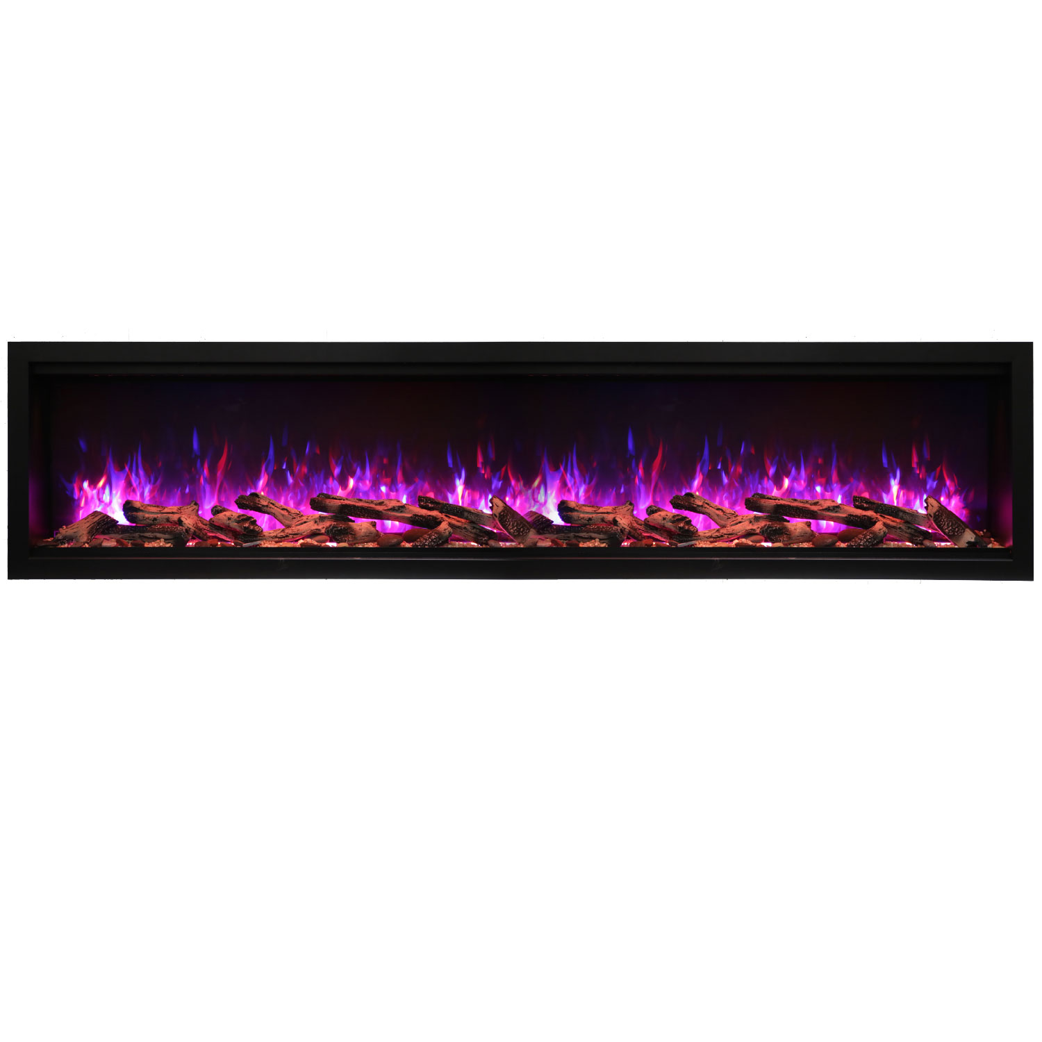Tall Black Electric Fireplace