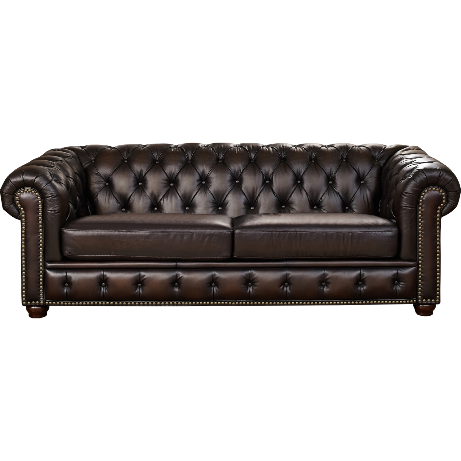 albany leather sofa get rid of old dublin amax s 100 in brown w diamond tufting nailheads by