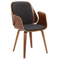 Armen Living LCTFCHWACH Tiffany Dining Chair in Charcoal ...