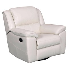 Swivel Chair Harvey Norman Wing Slipcovers Target White Leather Recliner Declan 360