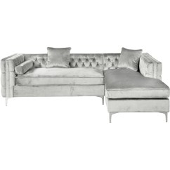 Grey Sofa With Silver Nailheads Best Fabric For Slipcovers Sectional And Couch Mulberry