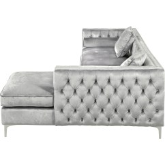 Newton Rolled Arm Sofa Chaise Convertible Bed Reviews Grey Tufted Sectional Silver Kerwin 5 Piece Reclining