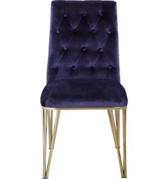 chic home fdc9121 dr callahan dining chair in tufted navy velvet on gold metal set of 2  [ 1500 x 1500 Pixel ]