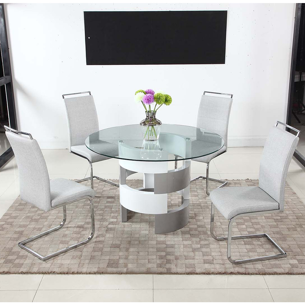electric sofa set 72 inch rv sleeper chintaly imports sunny-dt-b-t+sunny-sc-gry sunny 5 piece ...