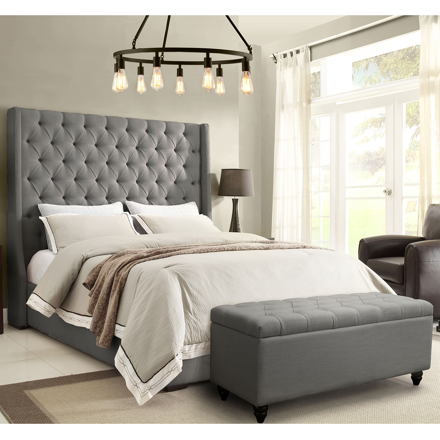 California King Tufted Bed Frame