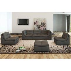 Harper Fabric 6 Piece Modular Sectional Sofa Albany Industries Leather Elegant