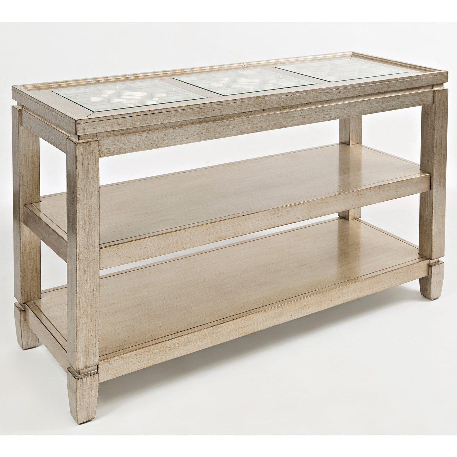 monarch specialties mirrored 38 sofa console table with drawers small apartment size bed silver sophie