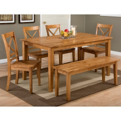 Monarch Dining Chairs Desk Chair Makeover Jofran 352-60+352-14kd+4x352-806kd Simplicity Honey 6 Piece Set - Table, 4 X & Bench