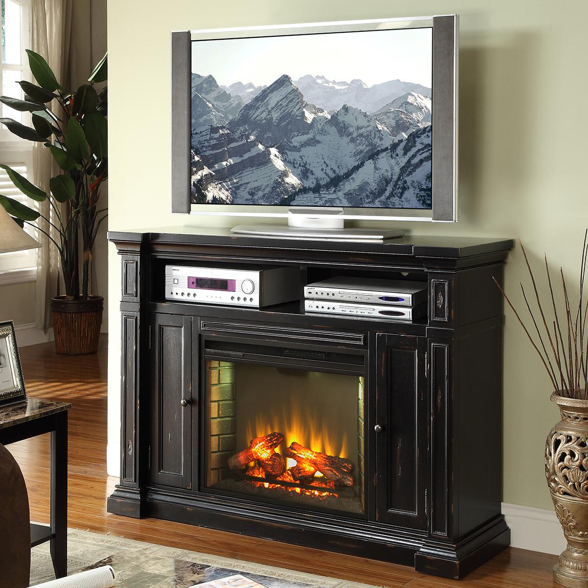 Legends Furniture ZMAN1900 Manchester 58 Fireplace Media